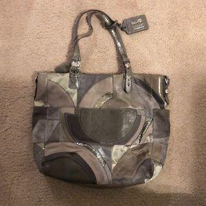 Gray Coach Bag